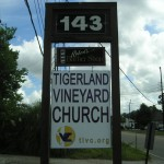 Street View Baton Rouge Aluminum Signs, Tigerland Vineyard Church Photo - Greater Baton Rouge Signs