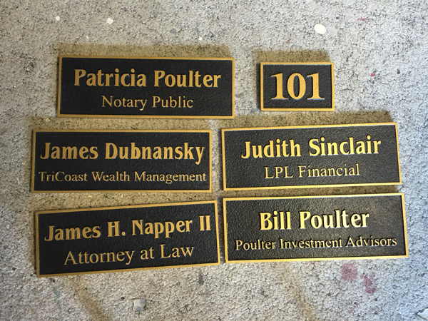 Faux Bronze Plaques Greater Baton Rouge Signs