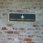 Photo Of Bronze Plaques, Baton Rouge Business Sign - Greater Baton Rouge Signs