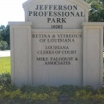 Jefferson Professional Park Nonlit Letters Sign - Greater Baton Rouge Signs