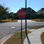 Forest Creek Subdivision - Stop Sign Photo - Greater Baton Rouge Signs