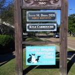 Capital Heights Veterinary Clinic HDU Sand Blasted Signs - Greater Baton Rouge Signs