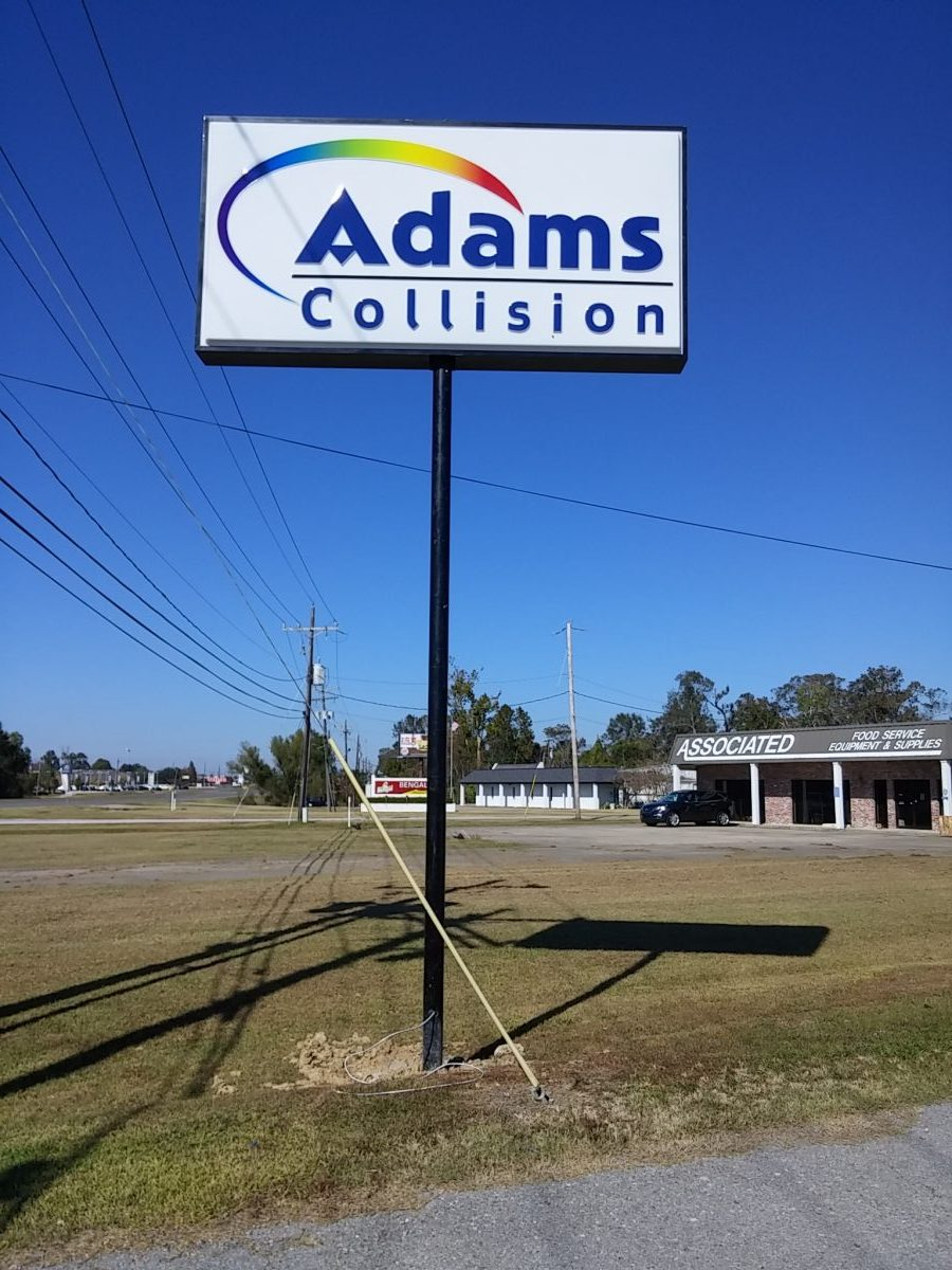 Adams Collision Airline Sign - Greater Baton Rouge Signs
